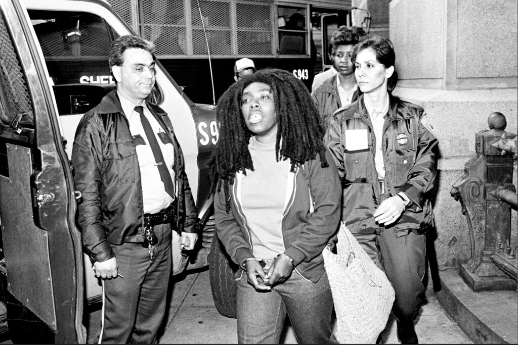Ramona Africa after being sentenced on April 14, 1986