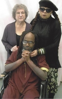 Rachel Wolkenstein (lawyer) and Wadiya Jamal (wife) visit a very ill Mumia Abu-Jamal