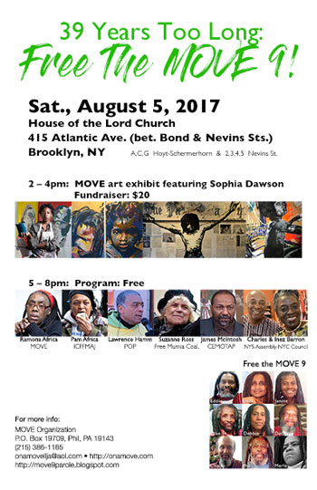 August 5, 2017 - Free the MOVE 9 Program at House of the Lord Church in Brooklyn, NY