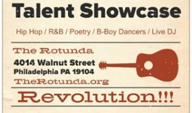 February 15, 2018 at 7pm Conscience Minds Talent Showcase at the Rotunda, Philadelphia, PA