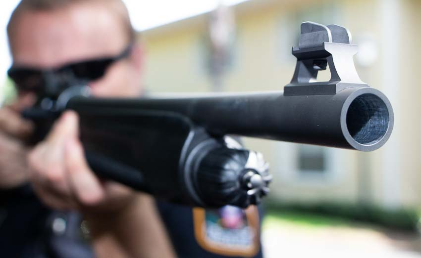 typical police shotgun