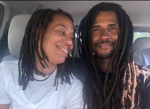 Debbie Africa with her son, Mike Africa, after her release on parole.