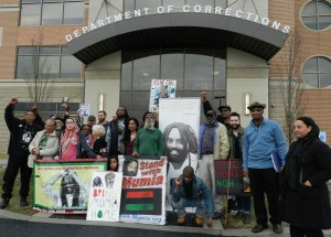 "Mon. April 6, 12 noon UPDATE. Demand ""No medical execution of Mumia!"""