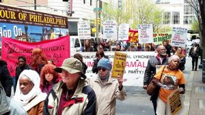 Demonstrate for Mumia Abu Jamal in Philadelphia