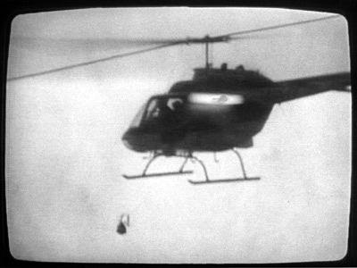 Helicopter Dropping Bomb